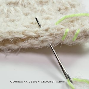 Whip Stitch 1 Beginner Hooded Scarf Pattern Oombawka Design Crochet