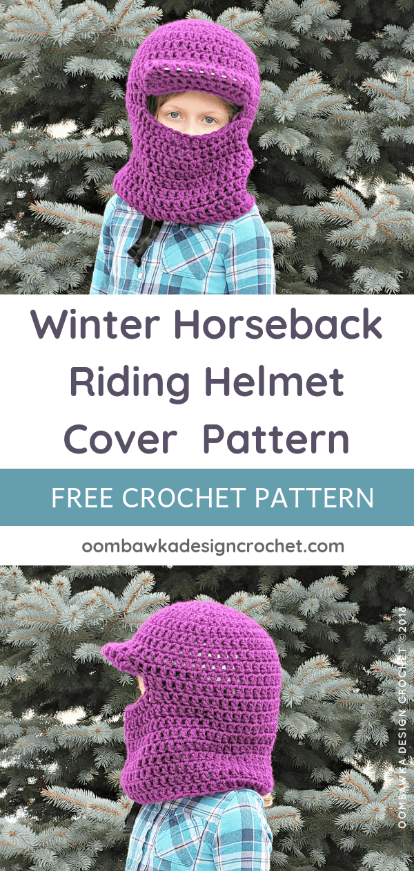 Winter Horseback Riding Helmet Cover Pattern Oombawka Design Crochet