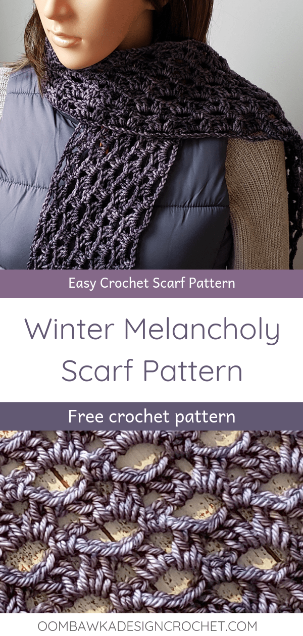 Winter Melancholy Scarf Pattern Oombawka Design Crochet