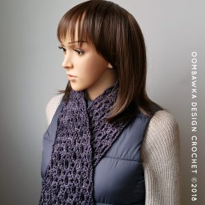 Winter Melancholy Scarf Pattern Stitches Oombawka Design Crochet