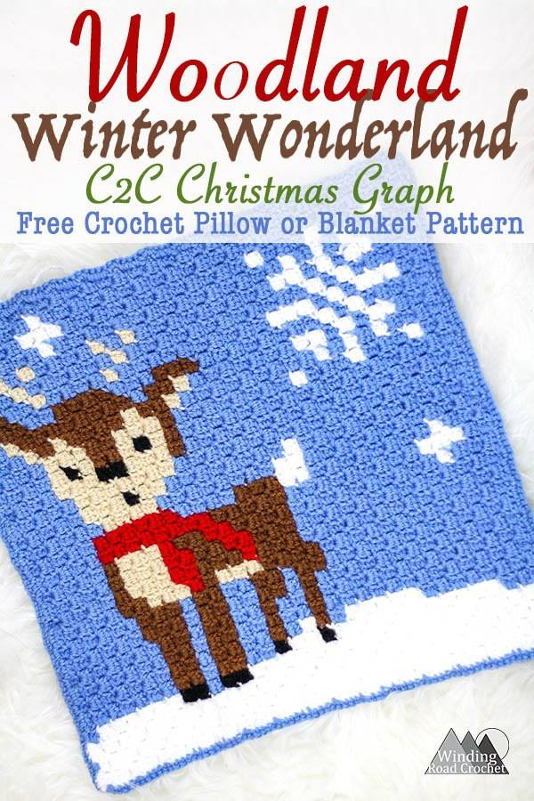 Woodland Winter Wonderland C2c Christmas Graph Oombawka Design Crochet