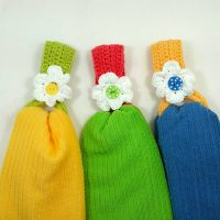 Daisy Towel Holder by Claudia Lowman