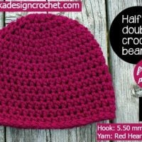 Simple Half Double Crochet Basic Beanie Hat Pattern