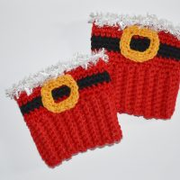 Santa Boot Cuffs by Amy Lehman