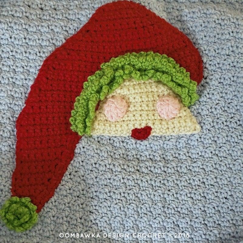 4 Crochet Santa Pillow. Oombawka Design Crochet Christmas
