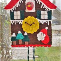 Winter Time Cuckoo Clock - Haekelfieber Austria
