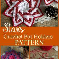 Christmas Star Pot Holder Crochet Pattern - LiliaCraftParty