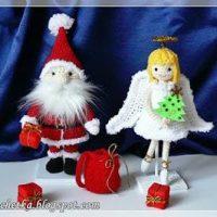 Christmas Angel and Santa Claus - Lalka Crochetka
