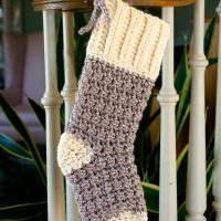 Cozy Cottage Christmas Stocking by Maria Bittner