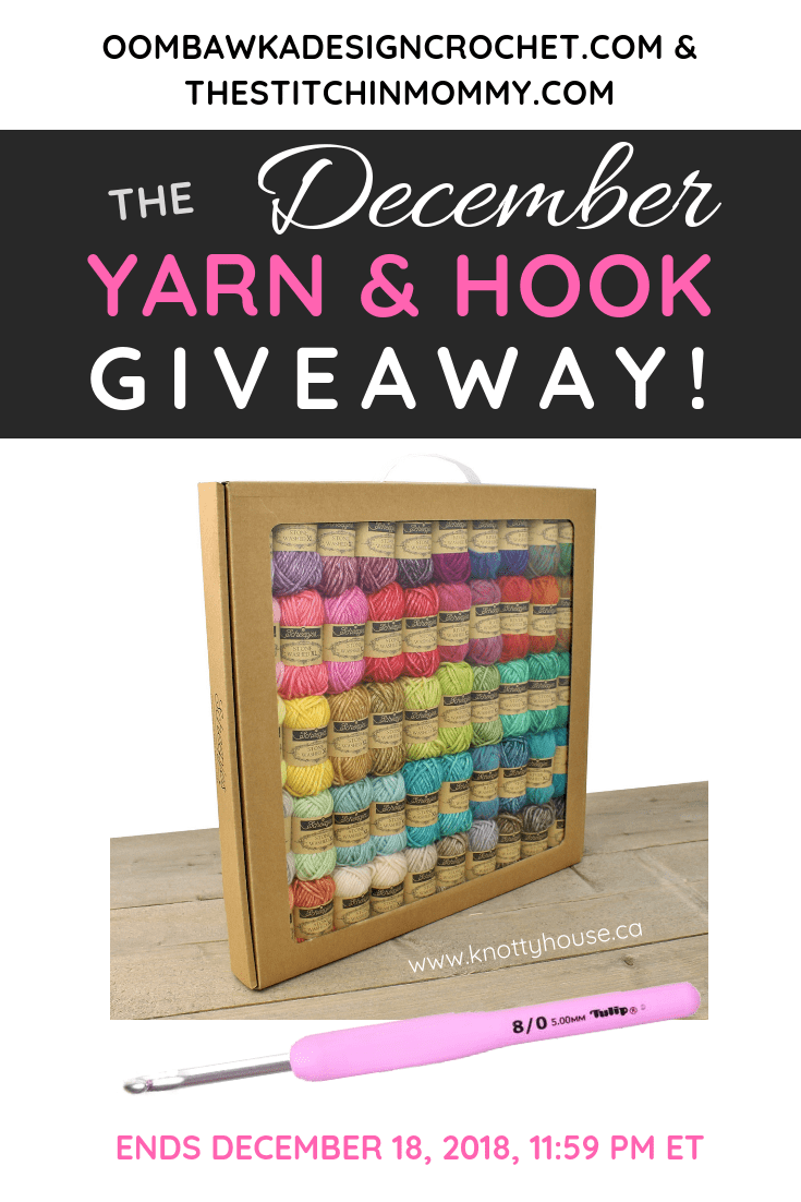 December Yarn and Hook Giveaway with Oombawka Design Crochet and The Stitchin Mommy