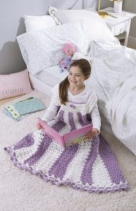 Dress. Kids Snuggies from Leisure Arts. Review by Oombawka Design Crochet