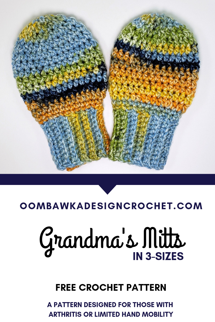 Free Crochet Pattern for Grandma's Mitts