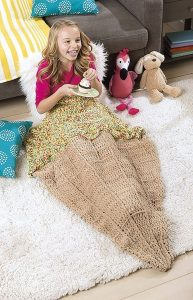 Ice Cream Kids Snuggies from Leisure Arts. Review by Oombawka Design Crochet