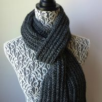 Just For Him - Classic Ribbed Scarf by Rhondda Mol