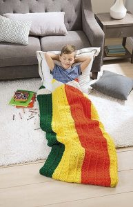 Pencils Kids Snuggies from Leisure Arts. Review by Oombawka Design Crochet