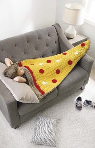 Pizza Kids Snuggies from Leisure Arts. Review by Oombawka Design Crochet