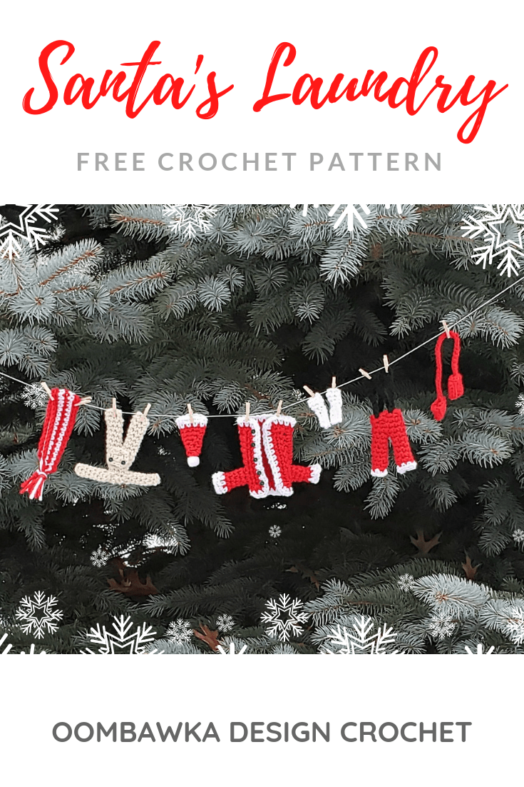 Santas Laundry Free Crochet Pattern from Oombawka Design Crochet 2