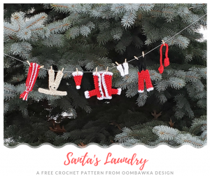 Santas Laundry Free Crochet Pattern from Oombawka Design Crochet