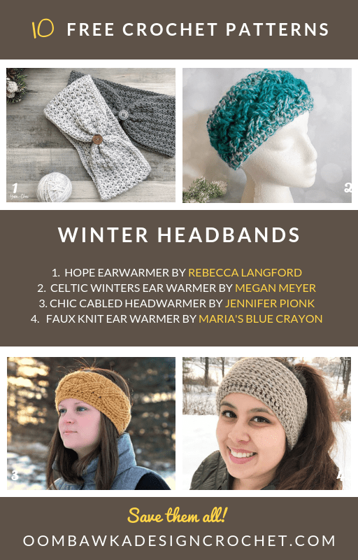 10 Free Patterns for Winter Headbands