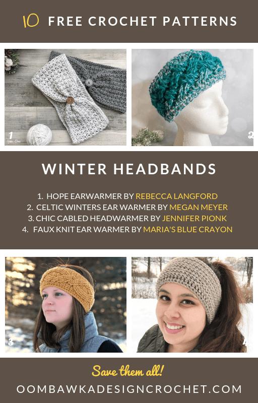 10 Free Patterns for Winter Headbands