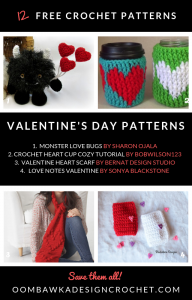 12 Valentine's Day Crochet Patterns. Crochet Roundup Oombawka Design