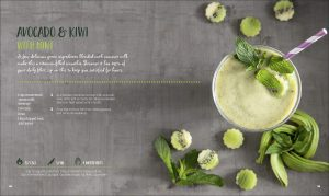 Avocado and Kiwi with Mint - Healthy Quick and Easy Smoothies. DK Canada Book Review by Rhondda Mol Oombawka Design