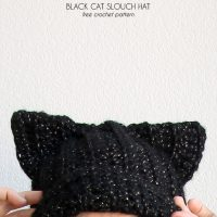 Black Cat Slouch Hat by Alexis Middleton