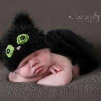 Black Kitty Cat Hat by Crochet by Jennifer