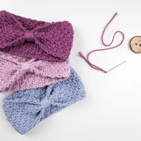 Blueberry Dance Beginner Headband pattern by Croby Patterns