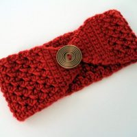 Buttoned Up Headband by B.hooked Crochet
