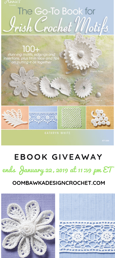 Giveaway Irish Crochet Motifs from Annie's Craft Store at Oombawka Design Crochet