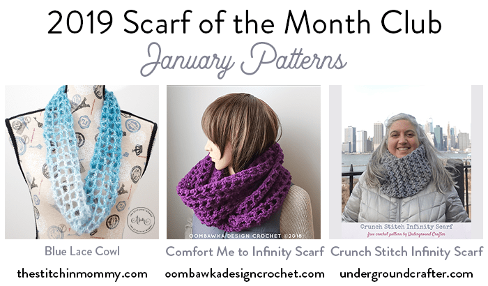 January 2019 Scarf of the Month Club CAL