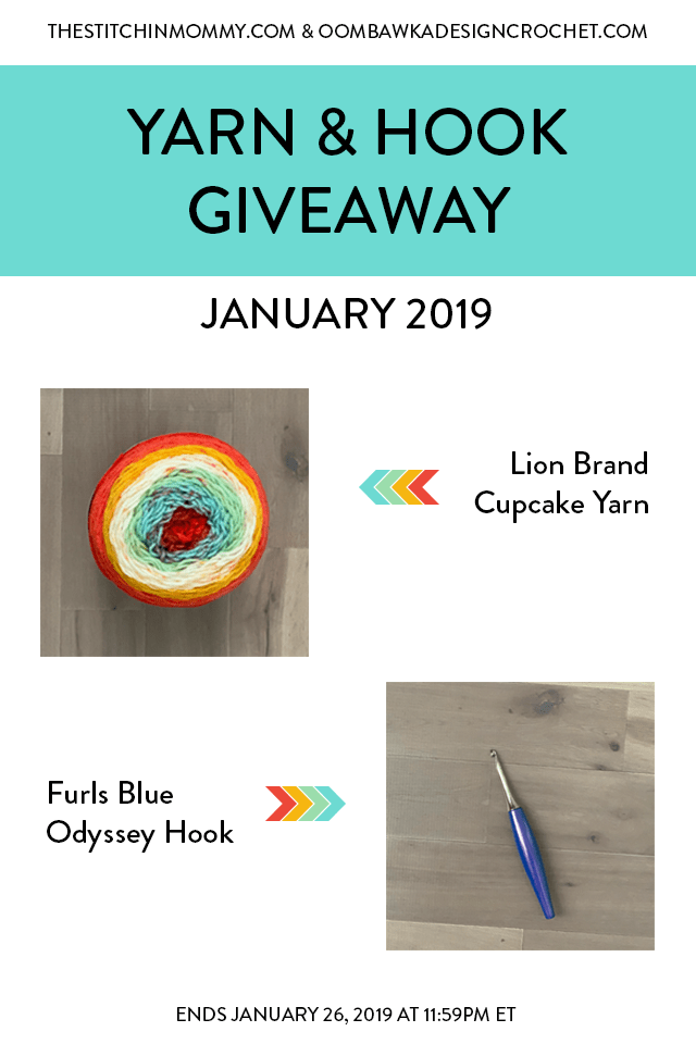 January 2019 Yarn and Hook Giveaway with Amy and Rhondda