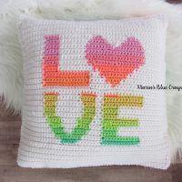 LOVE Pillow Cover by Maria's Blue Crayon
