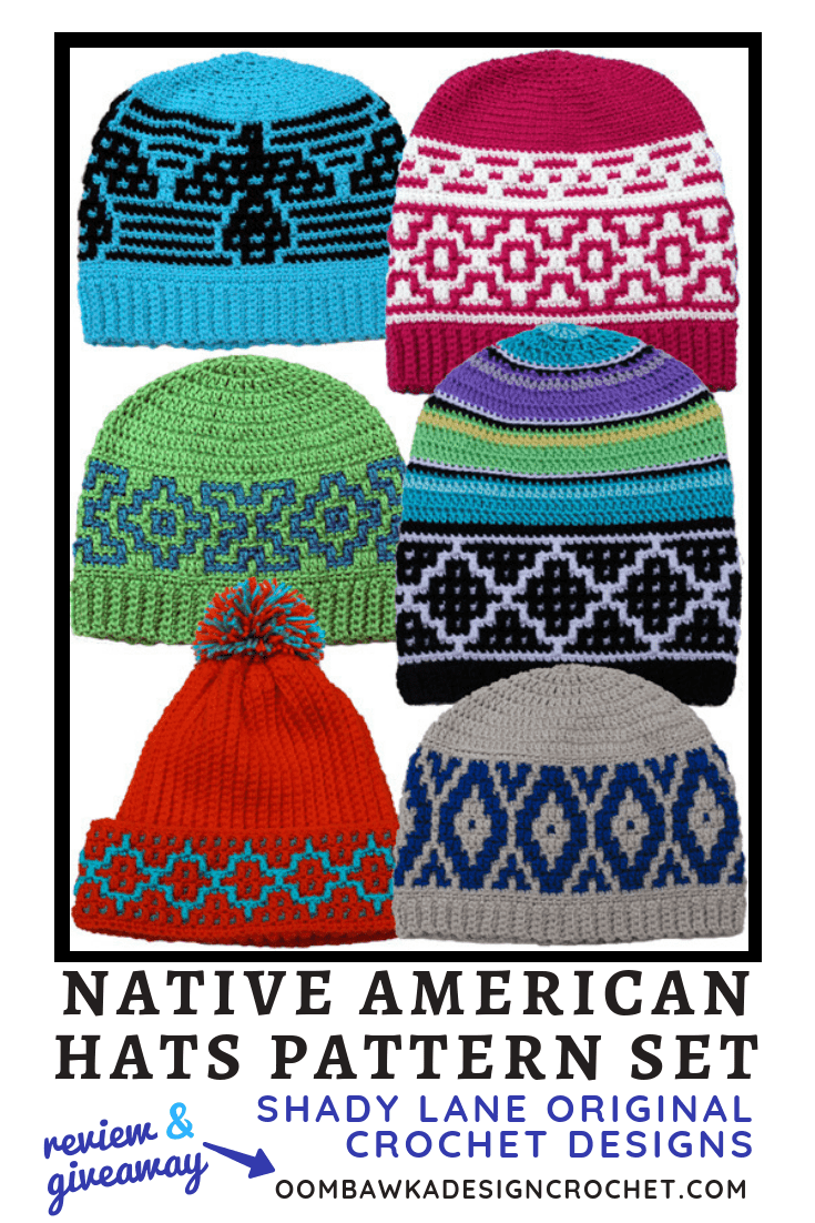 Native American Hats Pattern Set from Shady Lane Original Crochet Designs Review by Rhondda of Oombawka Design Crochet 2019