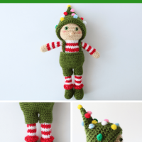 Free Crochet Pattern: Ollie the Elf Toy Pattern from The Blue Elephants