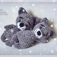 Plush Cats from Lalka Crochetka