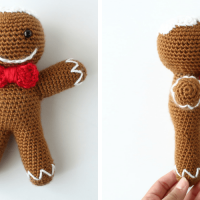Free Amigurumi Pattern: Ronald the Gingerbread Man from The Blue Elephants