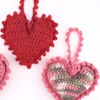Sweet Heart Sachet From Red Heart Yarn