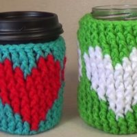 Crochet Heart Cup Cozy Tutorial by bobwilson123