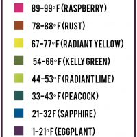 Temperature Blanket Color Chart Options - tempcharrt Vannas Choice LBY