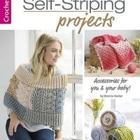 Cover. Self Striping Projects. Leisure Arts. Book Review by Rhondda at Oombawka Design Crochet