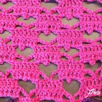 Crochet Heart Shawl by Frau Tschi-Tschi. Featured at the Wednesday Link Party.