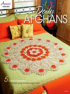 Doily Afghans Cover. Annies Craft Store. Book Review.