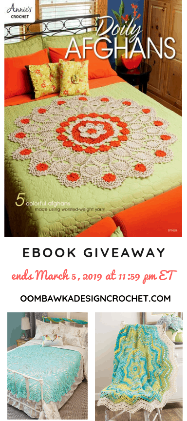 Doily Afghans eBook Giveaway ends March 5 2019 1159 pm et