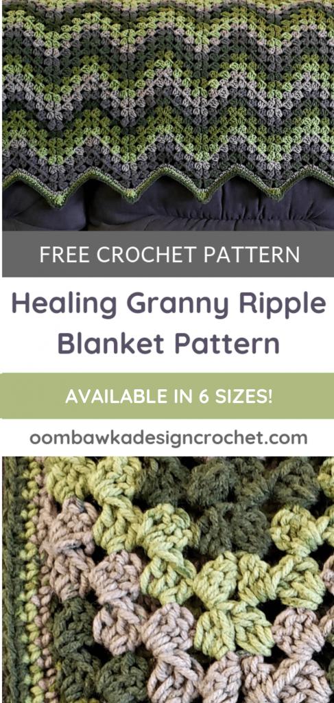 Healing Granny Ripple Afghan Pattern Oombawka Design