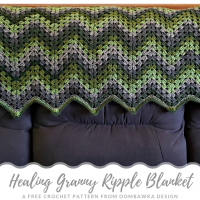 Healing Granny Ripple Blanket Pattern from Oombawka Design Crochet 2019