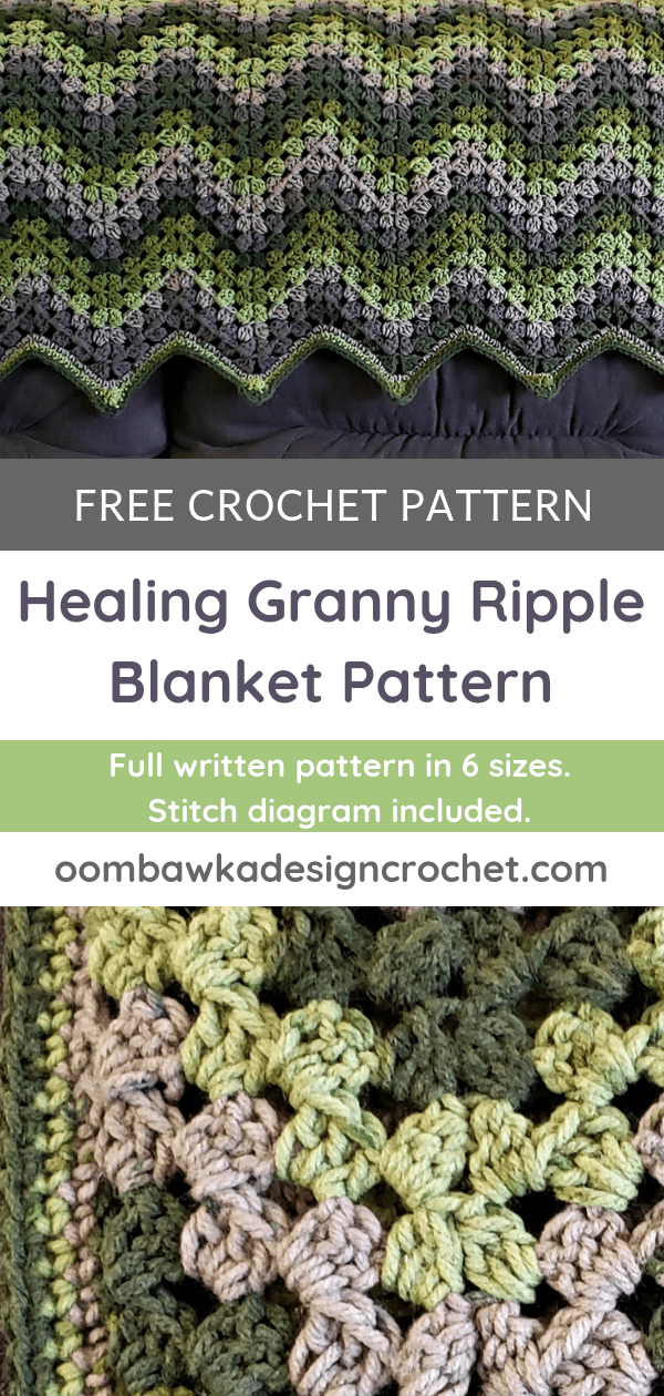 Healing Granny Ripple Blanket Pattern from Oombawka Design Crochet