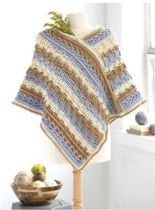 Poncho. Self Striping Projects. Leisure Arts. Book Review by Rhondda at Oombawka Design Crochet