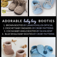 Save all these Free Crochet Patterns for Adorable Baby Boy Booties